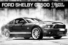 1art1 66118 Autos Poster - Ford Mustang Shelby GT500 Supersnake, 91 x 61 cm