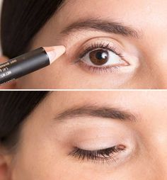 Cover under-eye circles, blemishes and more with these super easy concealer make-up tips. Beauty Blogs, Beauty Secrets, Beauty Hacks, Beauty Tips, No Makeup Hacks, Makeup Hacks Concealer, Eyeshadow Dupes, Eye Makeup Tips, Beauty Bar