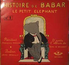 VINYL BABAR HISTOIRE LE PETIT ELEPHANT N°1 ALB5000M PRIX LIVRE