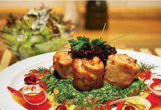Kapellrestaurant - Montafoner Milchkalbwoche (26. Jänner - 2. Februar 2014) #silvrettamontafon #delicious #kulinarik Baked Potato, Potatoes, Chicken, Meat, Baking, Ethnic Recipes, Food, Fresh, Food Food
