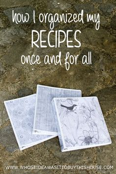 Only keep recipes that you ACTUALLY use and then organize them in pretty binders.