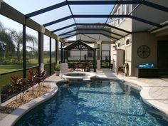 screened+in+lanai++around+pool+pictures | Below are some recent photos of pool enclosures with architectural ...