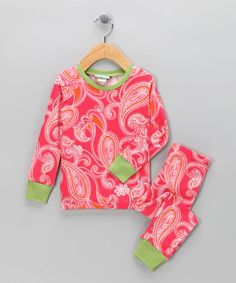 Take a look at this Red Paisley Pajama Set - Toddler & Girls by BedHead Pajamas on #zulily today!