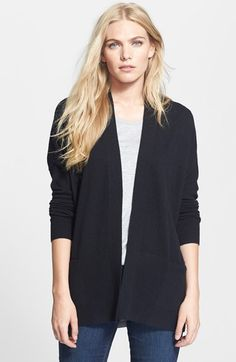 Vince Rib Trim Cashmere Cardigan available at #Nordstrom
