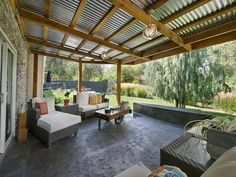 27 Gorgeous Covered Patio Ideas for Your Outdoor Space Covered Patio Ideas – Summer is almost upon u Patio Roof, Backyard Patio, Backyard Landscaping, Landscaping Design, Carport Patio, Patio Grill, Gravel Patio, Backyard Ideas, Outdoor Rooms