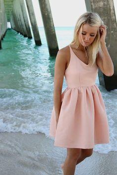 Feeling Flirty Pink Babydoll Criss Cross Back Party Dress – Amazing Lace
