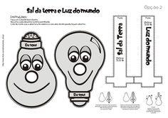 Luz e Sal (sobe e desce) Bible Activities For Kids, Bible Crafts For Kids, Sunday School Crafts, Cool Kids, Religion, Children, Creative, Terra, Washington