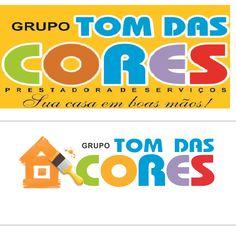 Re-design de logotipo do Grupo Tom das Cores - Goiânia-GO.