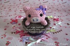 Little Yarn Friends • Crochet Pattern: Lil' Piggy Cupcake