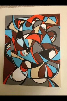 """Thick and Thin"" 24x36x1&1/2 in. gallery wrapped abstract acrylic painting"