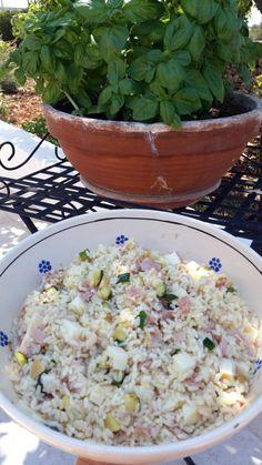 insalata di riso con zucchine prosciutto e scamorza aff