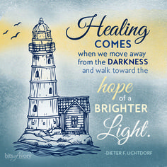 Healing comes when w