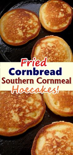 Also known as Johnny cakes or hoecakes, fried cornbread fritters are a staple side dish in the Southern U.S. They look a bit like a cross between cornbread and a pancake, and they don't take much effort to whip up for a quick side dish #fried_cornbread#Skinnyrecipes #skinny #weightwatchers#southern_cornmeal #weight_watchers#desserts #food #breads #hoecakes#smartpoints #WWrecipes#healthyrecipes #recipes #southern_food#homemade #cornbread #ketorecipes#healthy #healthyeating #cornmeal