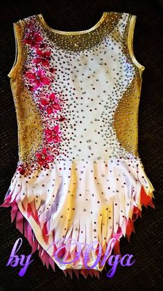 Made To Measure Rhythmic Gymnastic Leotard White by IamYourKnitter