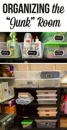 Junk room makeover! How to organize one of the most difficult rooms in the house!: