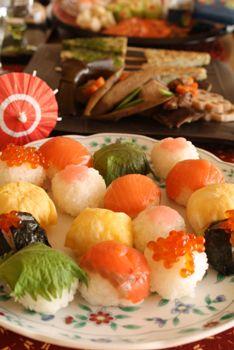 Temari Sushi (Little Sushi Ball) 手まりすし