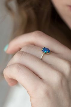 A royal blue opal ring is at the top of our wish list.