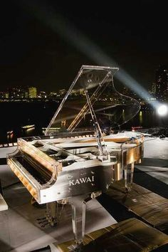 KAWAI Crystal Grand Piano Play till I drop, inspire me city lights under the stars! Sound Of Music, Music Love, Music Is Life, Good Music, Piano Art, Piano Music, Music Music, Mundo Musical, Baby Grand Pianos