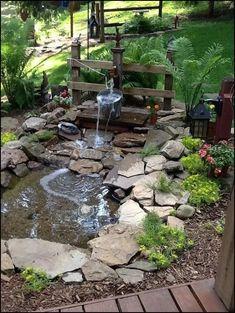 amazing backyard fountains, backyard water feature ideas, DIY backyard water fou…, erstaunl… - Beauty is Art