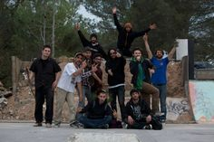 Our friends, the dudes from Beaulieu D.I.Y skatepark, near Montpellier. S/O !