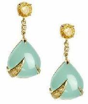 aqua blue earring