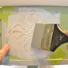 Using Pearl Embossing Paste through stencils