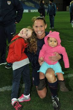Ultimate soccer mom Christie Rampone just lead Team USA to their first win at the 2012 Olympics! Read our interview with her here.