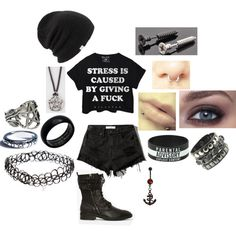 """Cause of Stress"" by chaos-girl on Polyvore"