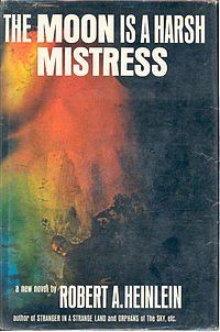 The Moon Is a Harsh Mistress is a 1966 science fiction novel by American writer Robert A. Heinlein, about a lunar colony's revolt against rule from Earth. Literary Fiction, Science Fiction Books, Fiction Novels, Books To Read, My Books, Long Books, Sci Fi Books, Fantasy Books, Fantasy Fiction