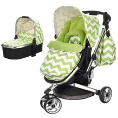OBaby Chase 2in1 Pram System-ZigZag Lime (New) PACKAGE INCLUDES: Obaby Chase Pushchair Obaby Chase Carrycot-Zig Zag Lime OBABY CHASE PUSHCHAIR: Obaby is proud to present the Chase 3 Wheeler Stroller in two striking zigzag designs. An alternative t http://www.MightGet.com/march-2017-1/obaby-chase-2in1-pram-system-zigzag-lime-new-.asp
