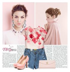 """""""TB Dress 3"""" by tinasxx ❤ liked on Polyvore featuring Lela Rose, Tory Burch and tbdress"""