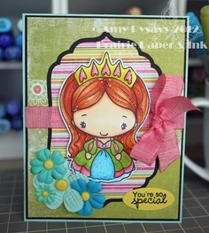 Cute colors - love the hair with sparkles