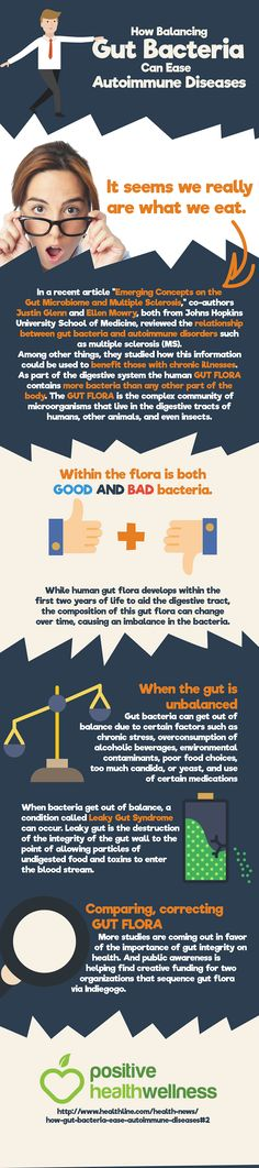 How Balancing Gut Bacteria Can Ease Autoimmune Diseases – Positive Health Wellness Infographic