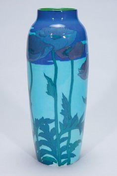 Rookwood Pottery, Cincinatti, Glaze decorated vase by Kataro Shirayamadani, 1923.
