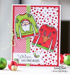 Simon Says Stamp Ugly Sweater stamps and dies. Project by Wanda Guess