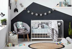 Create a calm modern nursery to love. Kmart Australia styling