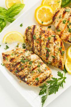 Grilled Greek Lemon Chicken by @cookingclassy