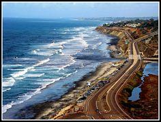 Torrey Pines State Beach, San Diego - Highway One, California Travel Dream by moonjazz, via Flickr