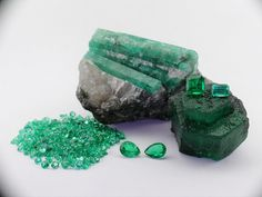 *EGYPT~Emerald has been in use in jewelry over 3000 years. This significant gem offers the gentle green, which no other gem can supply. The stone was in use in ancient Egypt and was one of the stones on the breastplate of the high priest in the first and second Hebrew temples.