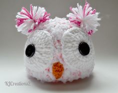 Very Soft Owl Hat Available in all size-Made to by kjcreations2