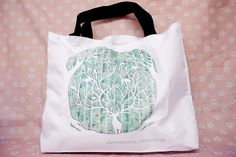 Unique Art Printed King of the Woodland White Beach Bag 43 x designed by Beautiful Otaku