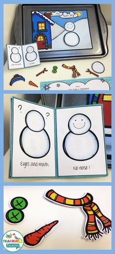Snowman Theme Games & Activities for Apraxia by teachingtalking.com