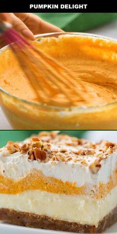 Pumpkin Deserts, Easy Pumpkin Desserts, Pumpkin Bars, Pumpkin Delight Dessert Recipe, Pumpkin Coffee Cakes, Pumpkin Cheesecake Recipes, Easy Pumpkin Cake, Pumkin Cake, Pumpkin Foods