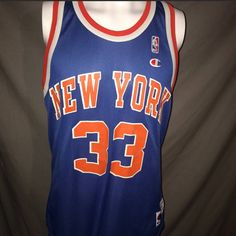 Champion Vintage Mens Large New York Knicks Patrick Ewing Champion  Basketball Jersey Size l - Jerseys 1b2543f28