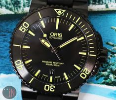 Dropping Degrees!Oris 43mm Aquis Date DLC Coated Stainless #luxury cars #luxury homes #luxury house