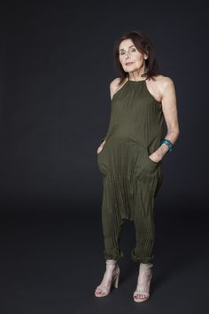 undesigned Twisted Berlin Jumpsuit in Olive