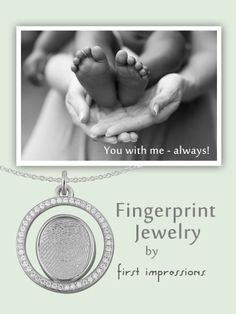 First Impressions Fingerprint Jewelry available at Eichhorn Jewelry in  Decatur Indiana 800-589-2621