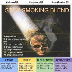 Stop Smoking Essential Oil Blend #stopsmokingessentialoils #Signsandsymptomsofgallbladderproblems