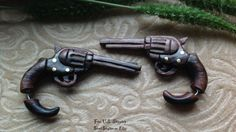 """Fake Gauge Earrings, """"Revolvers"""" Naturally Organic, Sono Wood, Hand Carved, Tribal"""