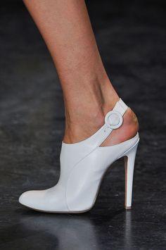 White buckle heel at Altuzarra Fall 2014